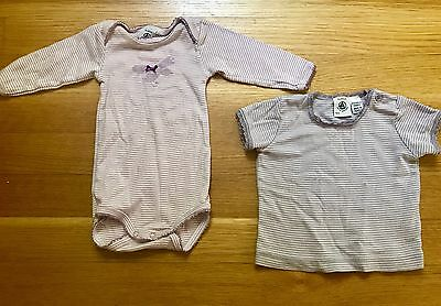 Petit Bateau Onesie And Top, Both Size 3 Months, Both EUC