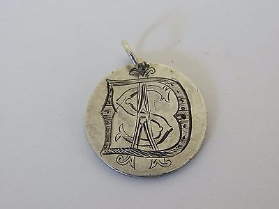 Engraved Love Token S A D on an 1875 Seated Liberty Silver Dime Coin & Jump Ring
