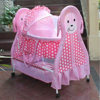 Brand New Innovative Style 3IN1 Cool Baby Bassinet-Pink