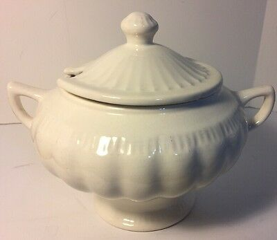 Vintage Mid-Century Usa Pottery Soup Tureen    Numbered USA