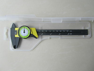 "FRACTIONAL DIAL 6"" INCH 150mm CARBON FIBER VERNIER CALIPER MICROMETER 4 WAY"