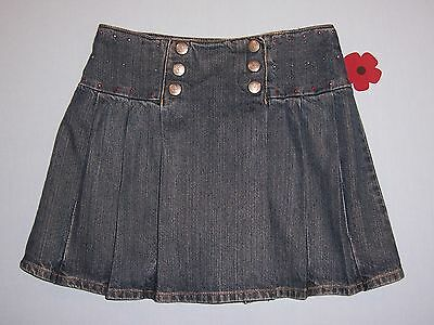 "Gymboree girls ""SCHOOL GIRL ROCKS"" sz 9 SKORT...DENIM PLEATED ...BTS"
