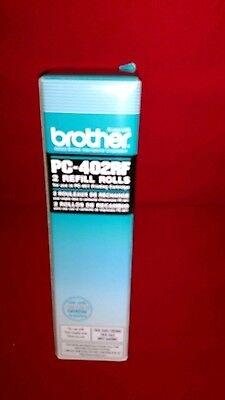 Brother Black Refill Ribbon Rolls - Black - Thermal Transfer. PC-402RF. NEW.