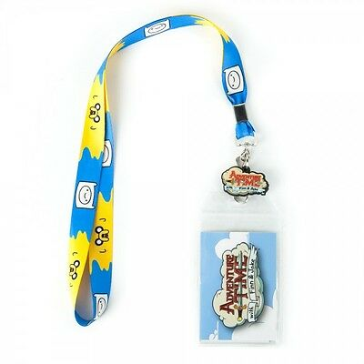 Cartoon Network Adventure Time Finn and Jake Lanyard with Charm and ID Holder