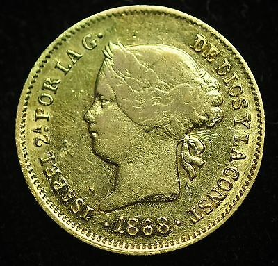 1868 Peso Spain-Philippines Gold Coin - lot#3