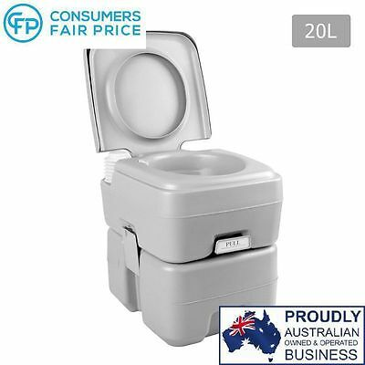 Portable Flushing Caravan RV Camping Outdoor Chemical Toilet Potti 20L – NEW