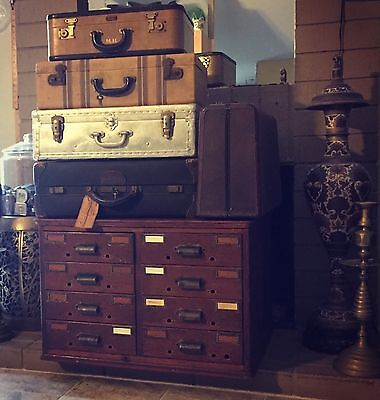 Handsome 1800's Library File 8 Drawers Large Desktop Apothecary