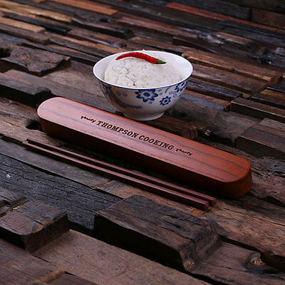 Bespoke Portable Bamboo Chopstick Holder with Chopsticks for Asian Food Lovers