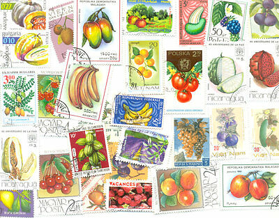 Fruits & legumes collection of 200 all different stamps