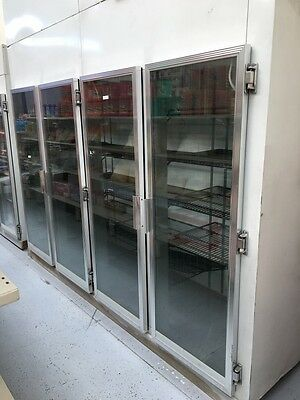Upright Commercial Kitchen Freezer Glass Doors Shelving Store Display
