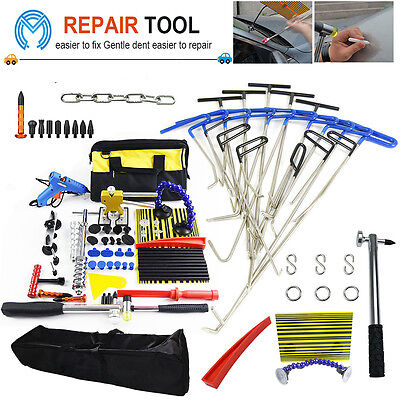 PDR Auto Body Rods Tools Hail Ding Removal Wedge Hook Paintless Dent Repair Kits