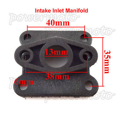 Pocket Bike Intake Pipe Inlet Manifold For  47cc 49cc Engine Carb Minimoto ATV