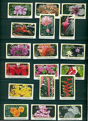 Cook Islands 2010 Flower definitive set #1305-22 MNH CV $85.85