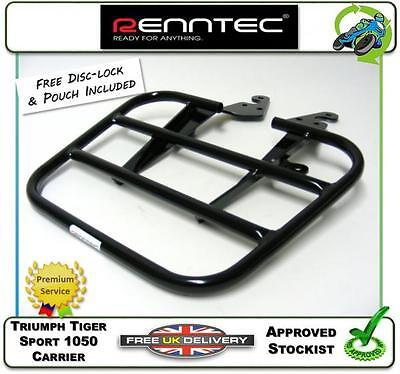 New Renntec Luggage Carrier Sports Rack Black Fits Triumph Tiger Sport 1050 13>
