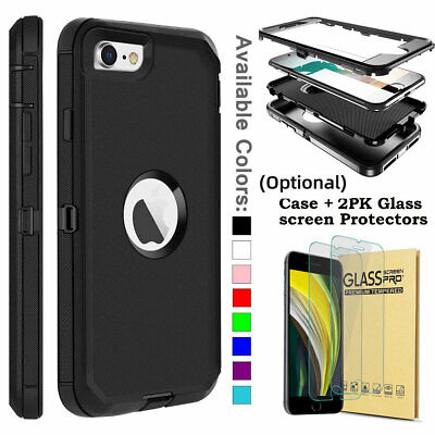 For iPhone 5 5S SE 5C 5G Shockproof Protective Phone Case Cover Screen Protector
