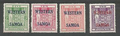 Samoa Sg232-5 The 1955 Qe2 Arms Postal Fiscal Set Of 4    5/- To £2 Cat £90 Lmm