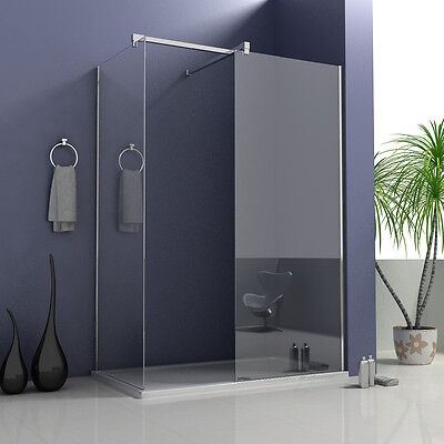 Aica Wet Room Shower Screen and Tray Enclosure Panel 8mm NANO Glass Cubicle