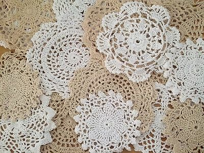 20 X Bulk New Lace Crochet Doilies Ecru & White  Collection