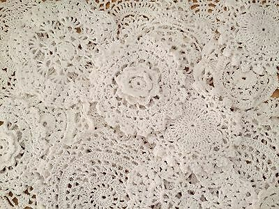 20 X Bulk New Lace Crochet Doilies White  Collection