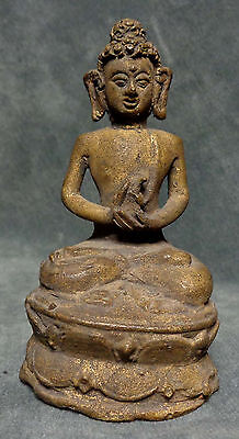 INDONESIA: Ancient Indonesian bronze Buddha figurine - Variocana