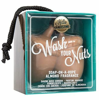 Hello Handsome Wash Your Nuts Soap On A Rope Almond