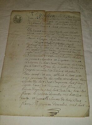 1810 Antique French Handwritten Signed Document Contract Stamped Napoleon