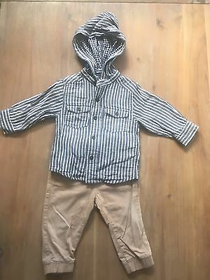 Baby Boy PUMPKIN PATCH Long Sleeve Shirt And TARGET Pants Size 6-12 Month 0