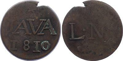 COIN Netherlands East Indies Java 1 Duit 1810 KM# 223