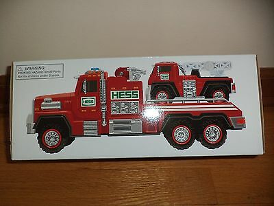 HESS 2015 Fire Truck and Ladder Rescue Truck - Collectible Toy - NEW In BOX