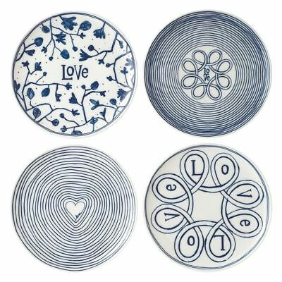 Ellen DeGeneres Blue Love Plate (Set of 4)