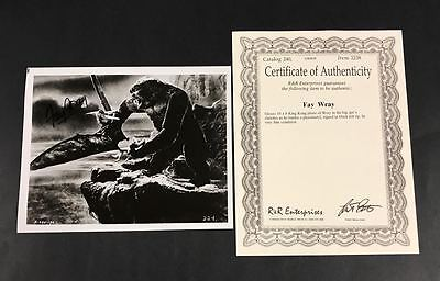 "Actress Fay Wray SIGNED King Kong 8""x10"" B&W Photograph w/ R&R COA Nice!"