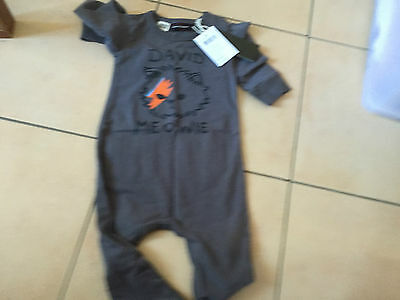 Rock Your Baby David Meowie Ls Playsuit  Sz 18-24 Months  Bnwt