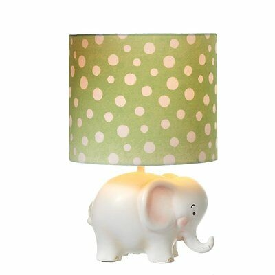 Little Elephant Accent Lamp with Dotted Shade for Nursery