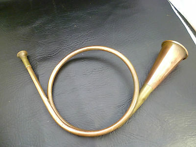 Vintage Copper Brass Hunting Horn Small