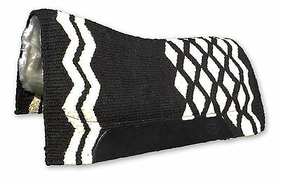 Black Small Contoured Western Thick Padded Horse Saddle Blanket Pad