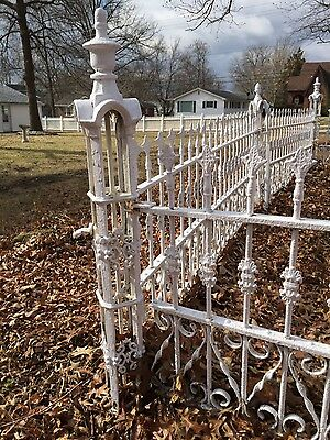 Antique Ornate Iron Fence Panels--65 Ft--Architectural Salvage!