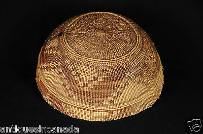 Antique Hupa Child's Hat North American Indian Woven 2 of 2