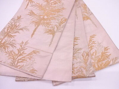 High Class Antique Fukuro Obi For Japanese Kimono, Beautiful Silk Craft Material