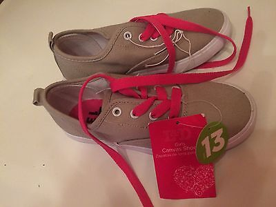 girls canvas shoes size youth 13, NEW with tags, L & D brand, Tan