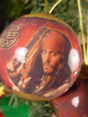 SET OF 2 PIRATES OF THE CARIBBEAN CHRISTMAS ORNAMENTS Captain Jack Sparrow