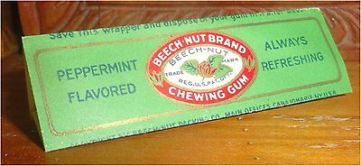 Vintage Rare 1920's-1930's American Chewing Gum Wrapper Beech-Nut Peppermint