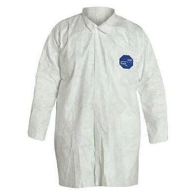 DuPont Lab Coat Disposable Tyvek Size 3XL White Case of 30 TY210SWH3X003000 PW