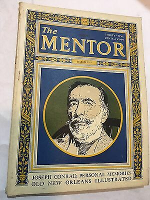 March 1925 The Mentor Mag / Joseph Conrad / Old new orleans