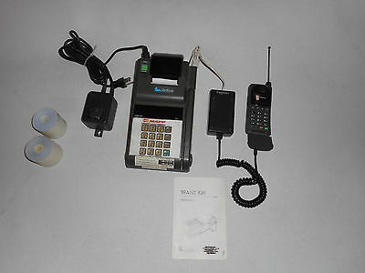 Verifone Tranz 420 Credit Card Terminal +Power supply Interface,cell phone ,Case