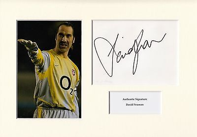 David Seaman Signed Arsenal A4 Mounted Display Aftal & Uacc [14435]