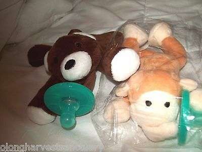 Very Cute Binky Babies  Bear And Monkey 6 1/2 ""