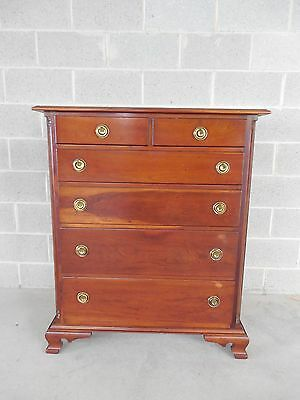 "STICKLEY Chippendale Style Cherry 6 Drawer Chest 38""W"