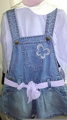 Baby girl denim skirt set with a butterfly 12- 18m