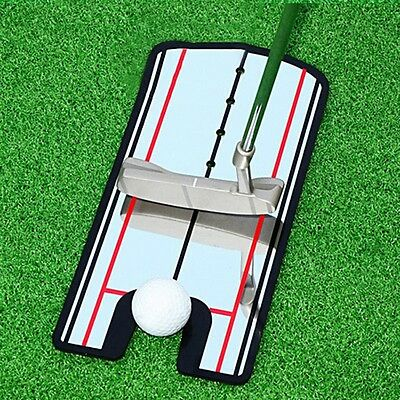 Golf Putting Mirror Alignment Training Aid Trainer Eye Line Sport Practice Tool