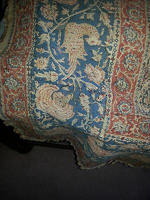 "Antique  Islamic Textile Printed cloth 60""x92"""
